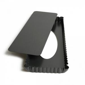 stampo crostata rettangolare stretta fondo mobile