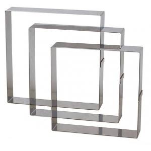 quadrato inox altezza 45 cm