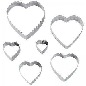 set 6 mini tagliapasta cuore